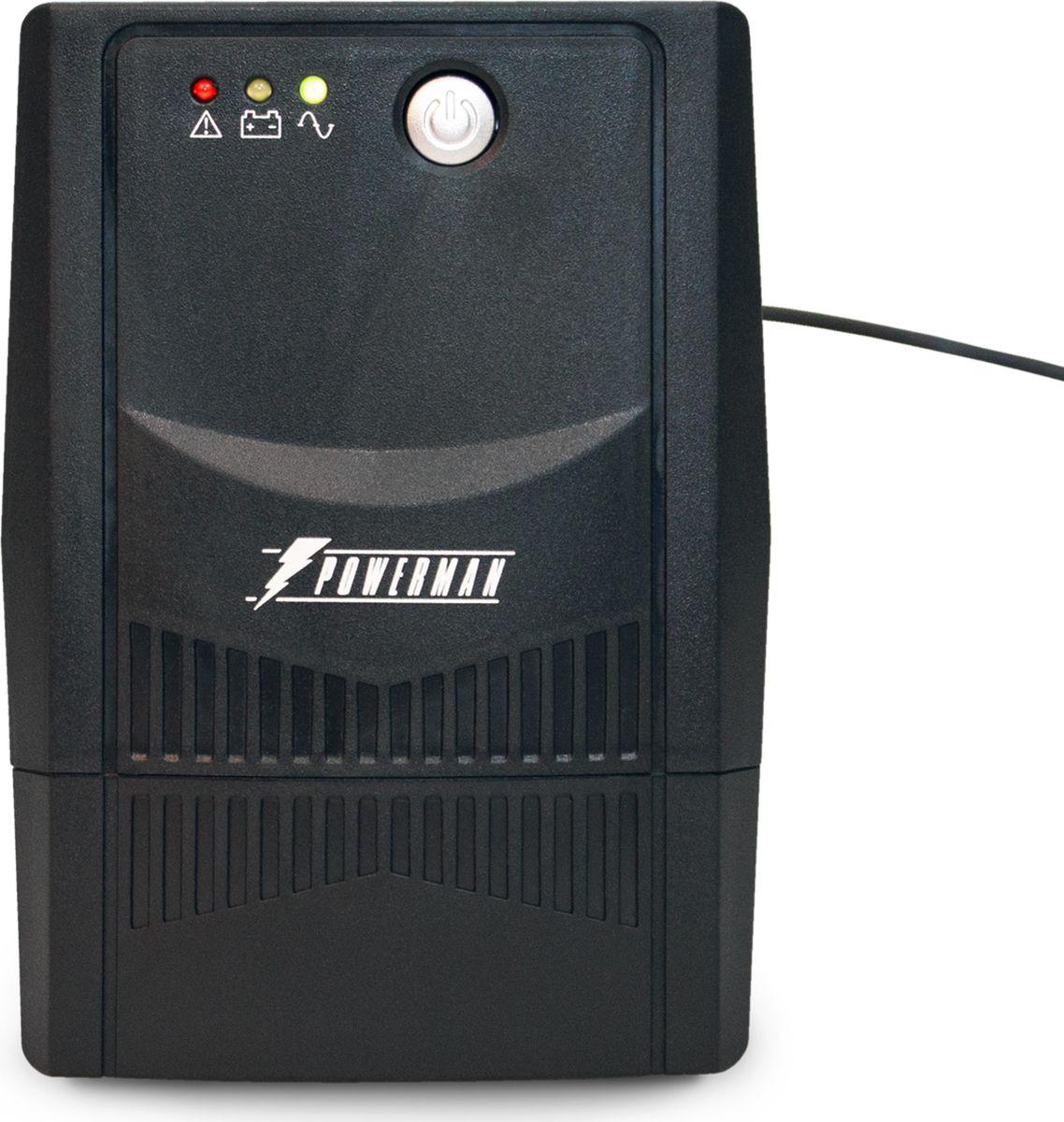 Источник бесперебойного питания Powerman UPS Вack Pro 800 Plus, 800 ВА источник бесперебойного питания powerman ups вack pro 1000 1000 ва