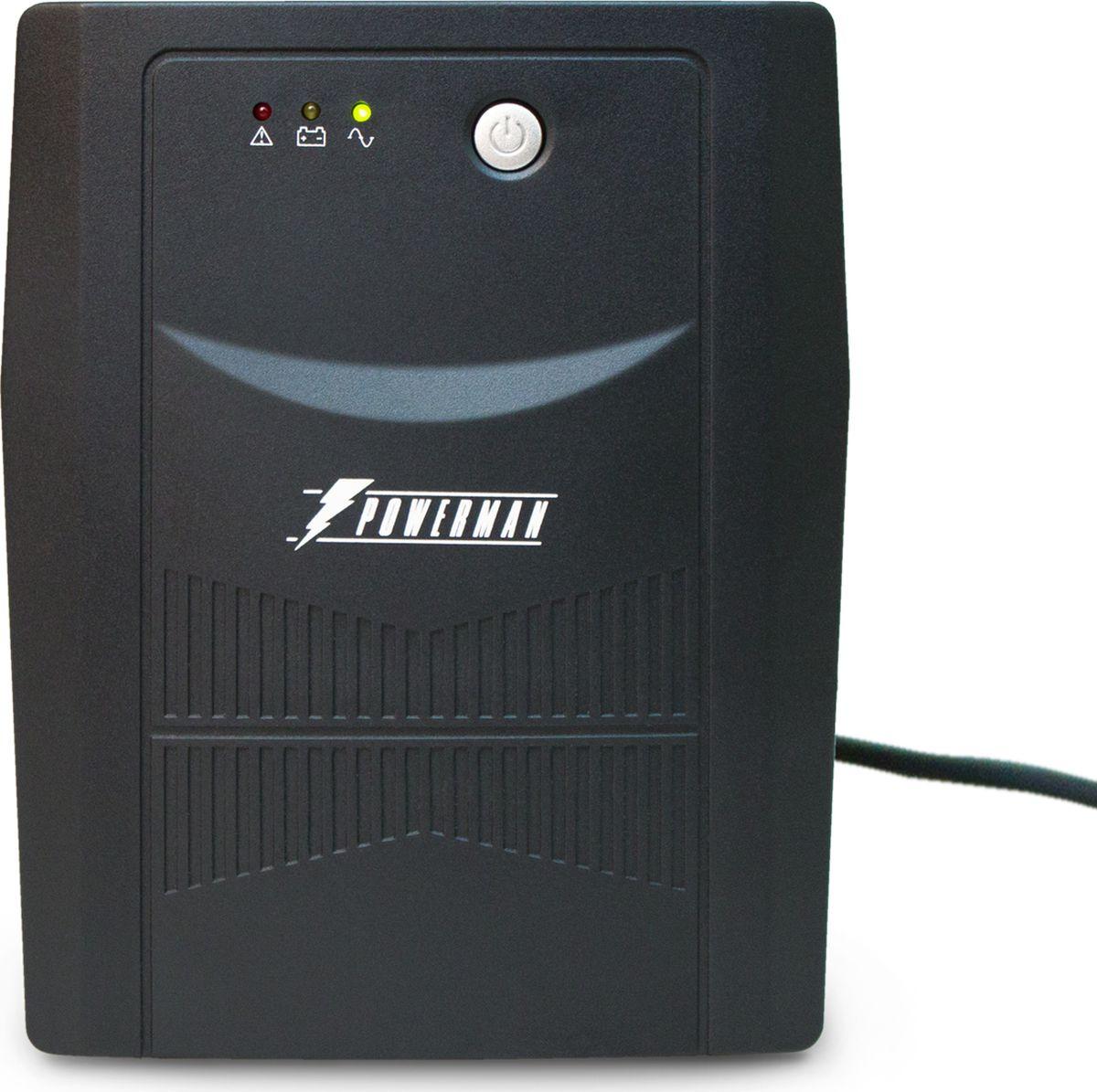 Источник бесперебойного питания Powerman UPS Вack Pro 1500 Plus, 1500 ВА источник бесперебойного питания powerman ups вack pro 1000 1000 ва