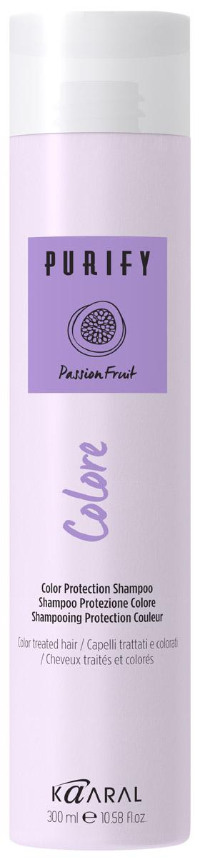 Kaaral Шампунь для окрашенных волос Purify Colore Shampoo, 300 мл шампунь для окрашенных волос kaaral purify colore shampoo 250 мл на основе фруктовых кислот ежевики
