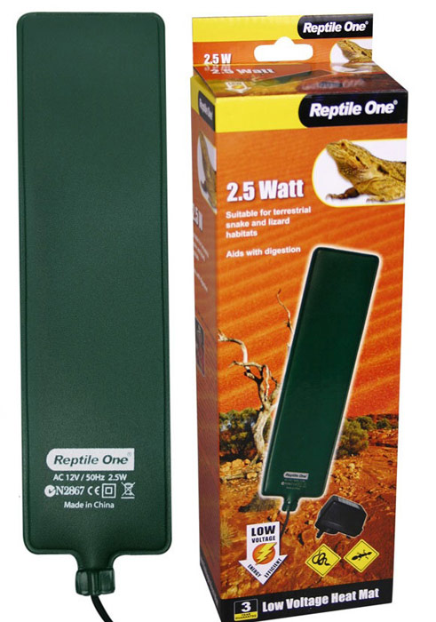 Греющая подушка Aqua One Reptile One Low Voltage Heat Ma, с встроенным термостатом, 2,5W, 6 x 24 см биотуалет aqua magic bravura low