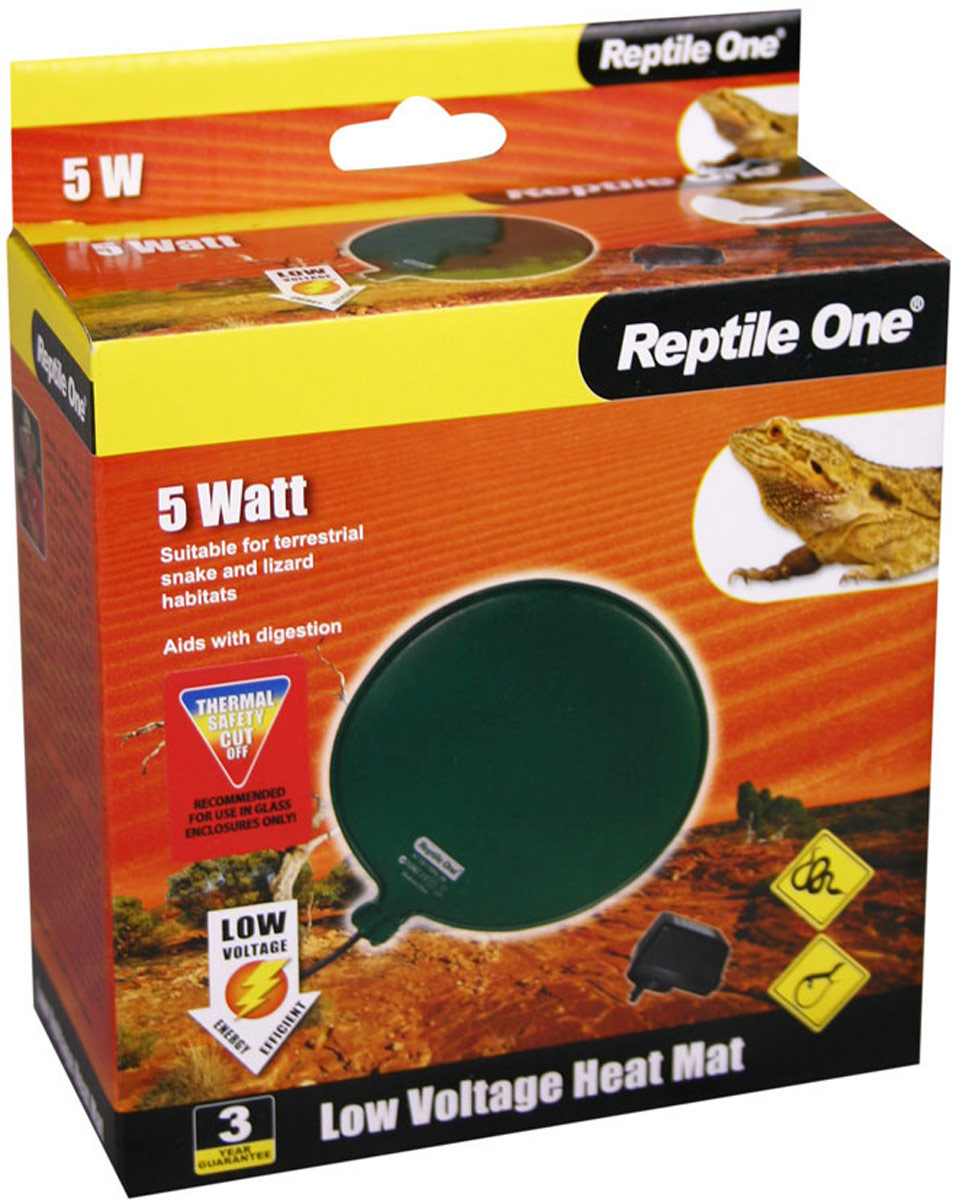 Греющая подушка Aqua One Reptile One Low Voltage Heat Mat, с встроенным термостатом, 5W, диаметр 12 см биотуалет aqua magic bravura low