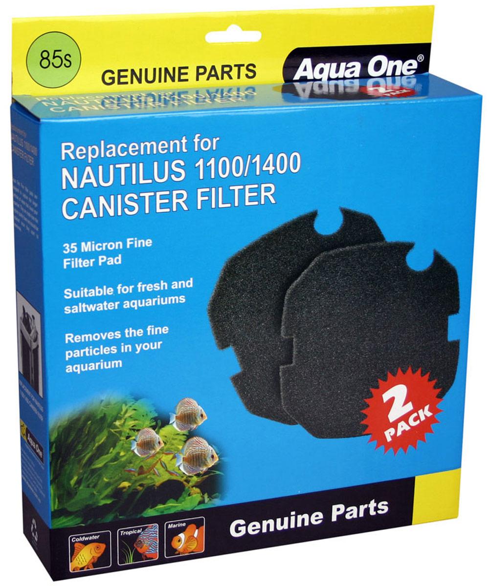 Губка тонкой очистки Aqua One Nautilus 1100/1400, для внешних фильтров, 35 PPI, 2 шт оборудование для аквариума aqua excel ae ro