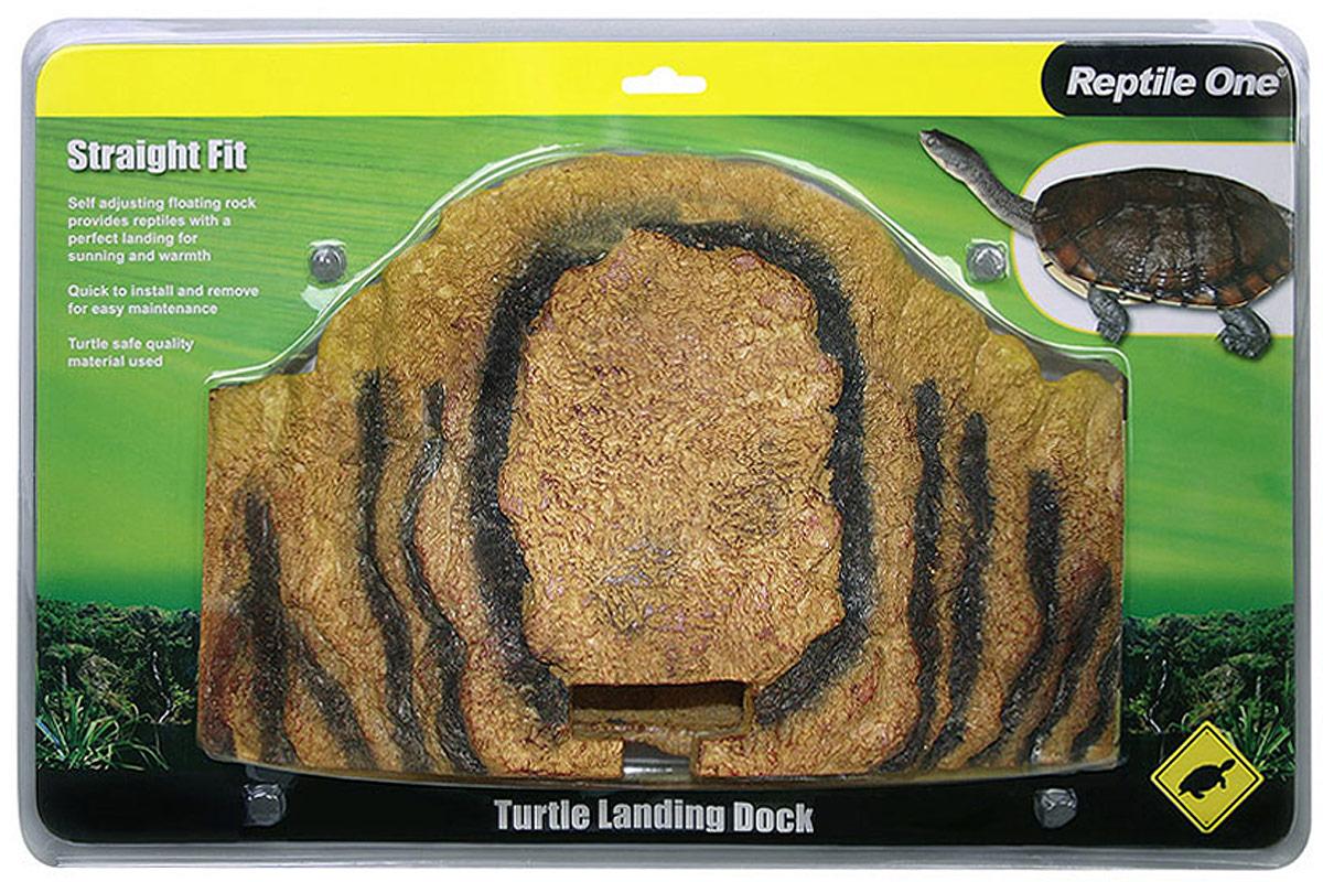Остров для черепах Aqua One Reptile One Turtle Landing Dock, на кронштейне, прямой, 37 x 20 см греющий камень aqua one reptile one heat rock с встроенным термостатом 12w