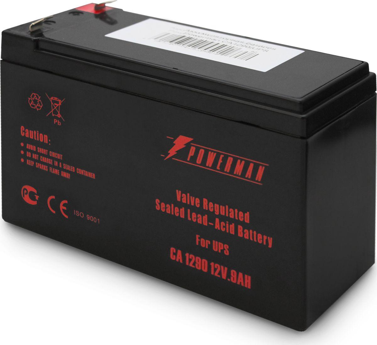 Аккумулятор Powerman CA1290/UPS, 9000 мАч батарея powerman ca1290 pm ups 12v 9ah
