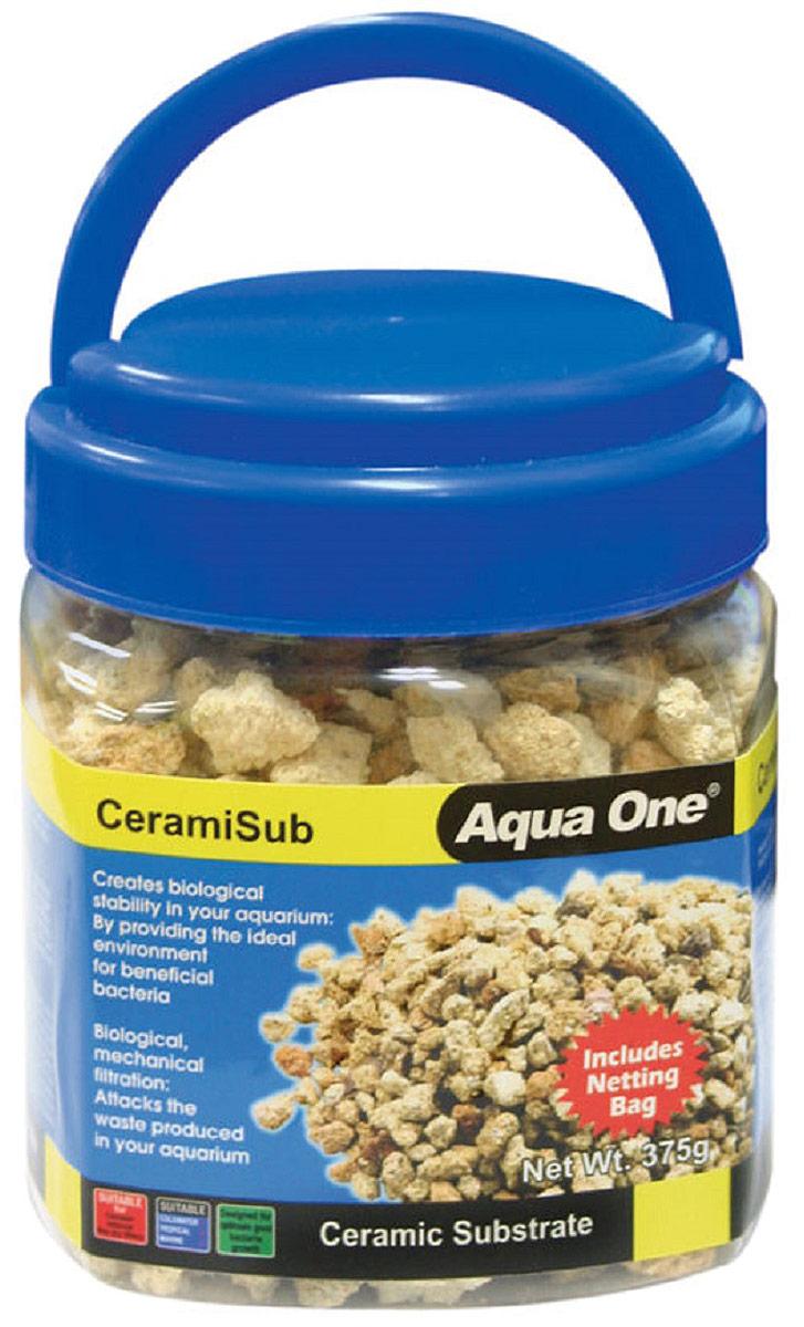 Наполнитель для фильтров Aqua One CeramiSub, 375 г греющий камень aqua one reptile one heat rock с встроенным термостатом 12w