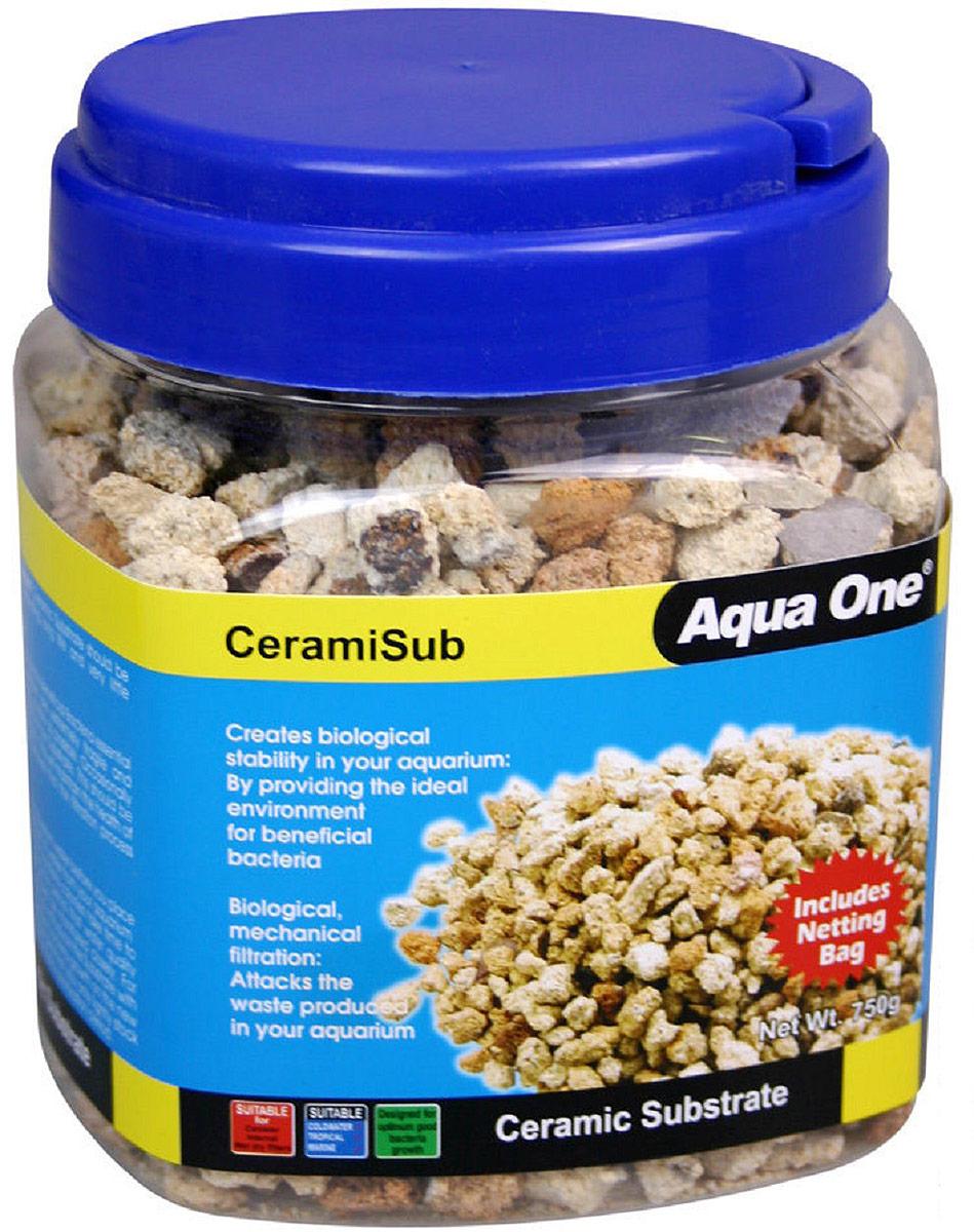 Наполнитель для фильтров Aqua One CeramiSub, 750 г греющий камень aqua one reptile one heat rock с встроенным термостатом 12w