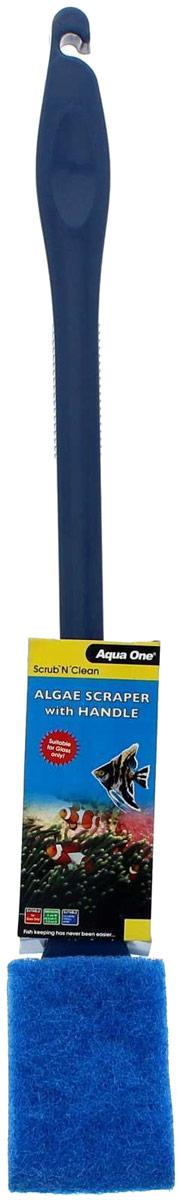 Скребок-губка Aqua One Algae Scraper, для механической очистки аквариума от водорослей, 45 см оборудование для аквариума aqua excel ae ro