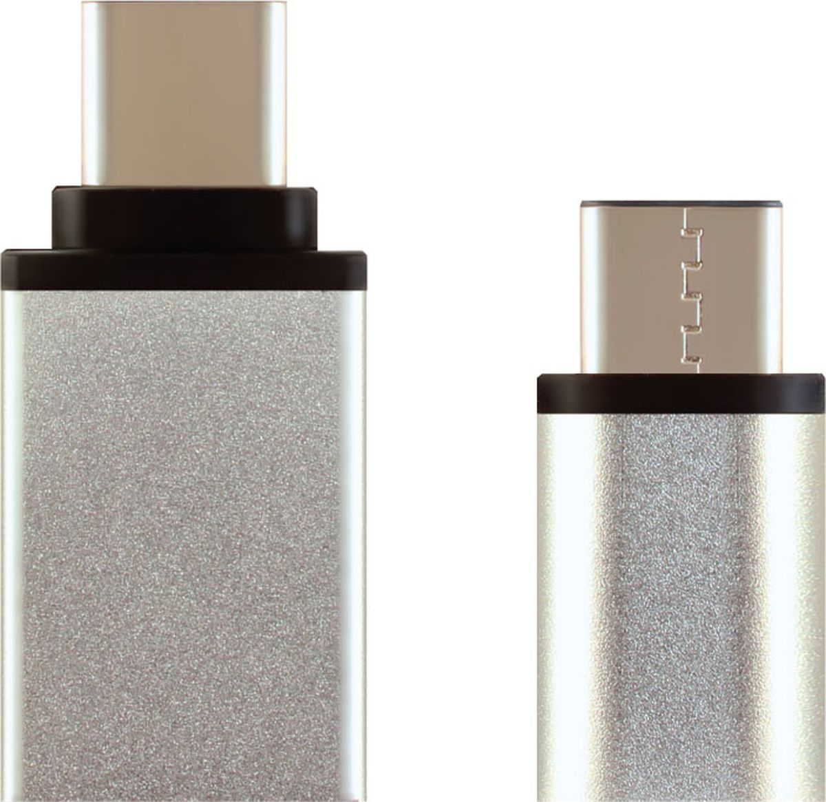 Ginzzu GC-885S, Silver комплект переходников Type-C - microUSB / USB 3.0 cy u3 199 wh usb 3 0 type c male to type a male data cable