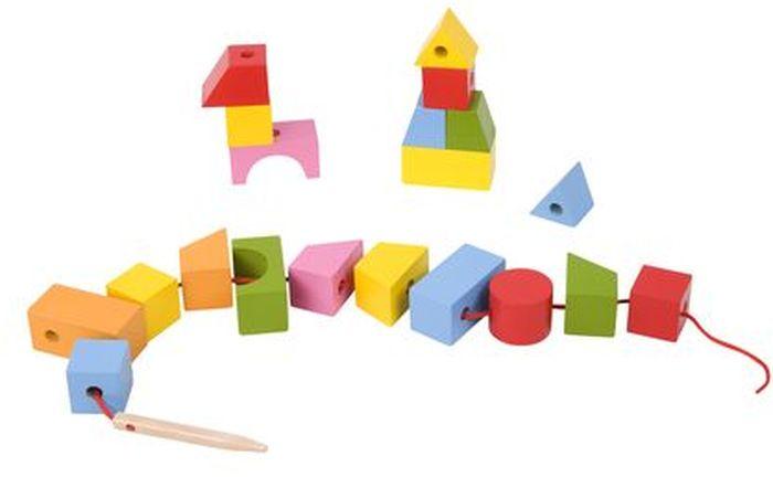 Classic World Развивающая игра-шнуровка Геометрические фигуры classic world сортер геометрические блоки classic world