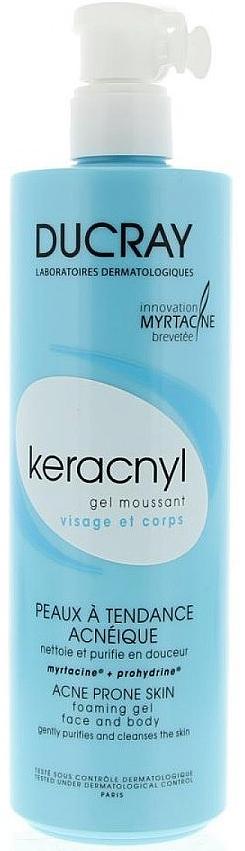 Ducray Очищающий пенящийся гель Keracnyl, 400 мл ducray