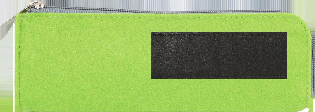 Feltrica Пенал цвет зеленый черный4627130650835Удобный аксессуар из фетра, подчеркнет индивидуальность своего обладателя и станет незаменимым помощником в повседневной жизни.