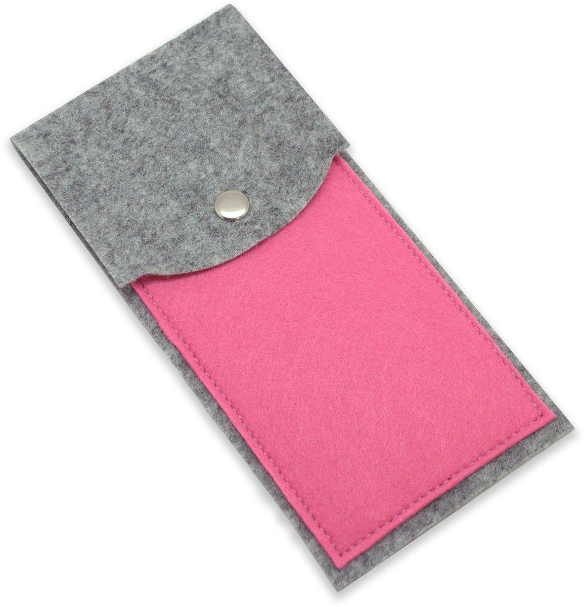 Feltrica Пенал цвет серый розовый feltrica пенал вертикальный