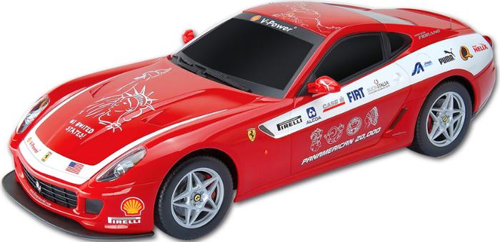MJX Радиоуправляемая модель Ferrari 599 GTB Fiorano Panamerican цвет красный автомобиль bburago ferrari 599 gtb fiorano hgte 1 43