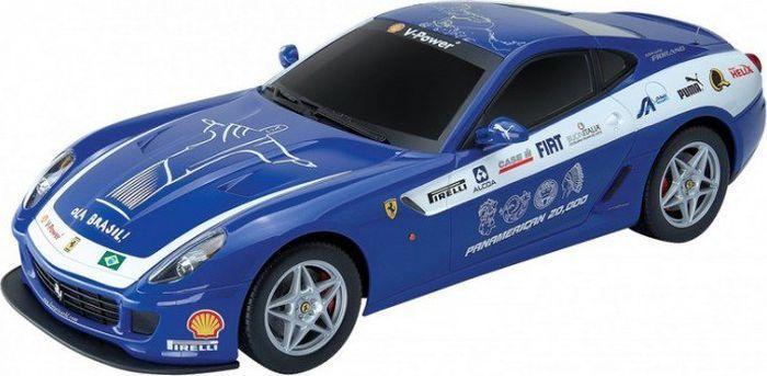 MJX Радиоуправляемая модель Ferrari 599 GTB Fiorano Panamerican цвет синий автомобиль bburago ferrari 599 gtb fiorano hgte 1 43