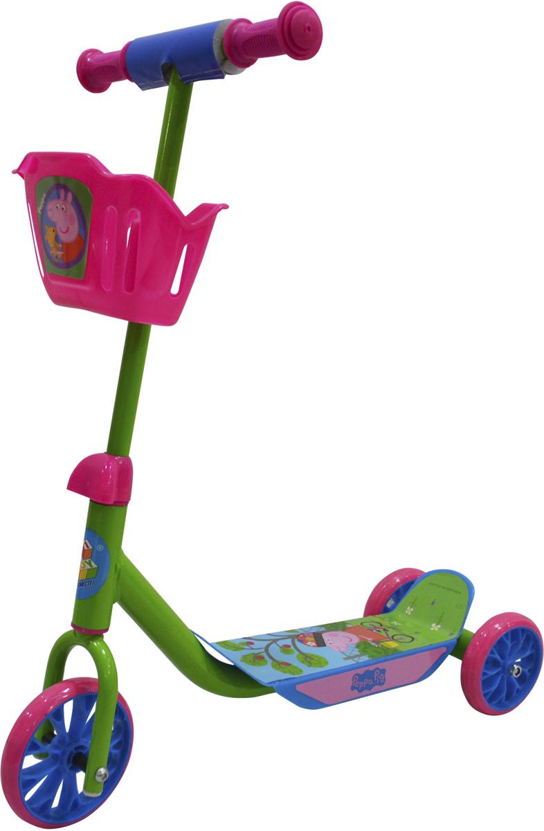 Фото - Самокат 1 Toy Peppa Pig, 3-колесный. Т11699 самокат 3 х колесный 1toy peppa pig корзинка т59976