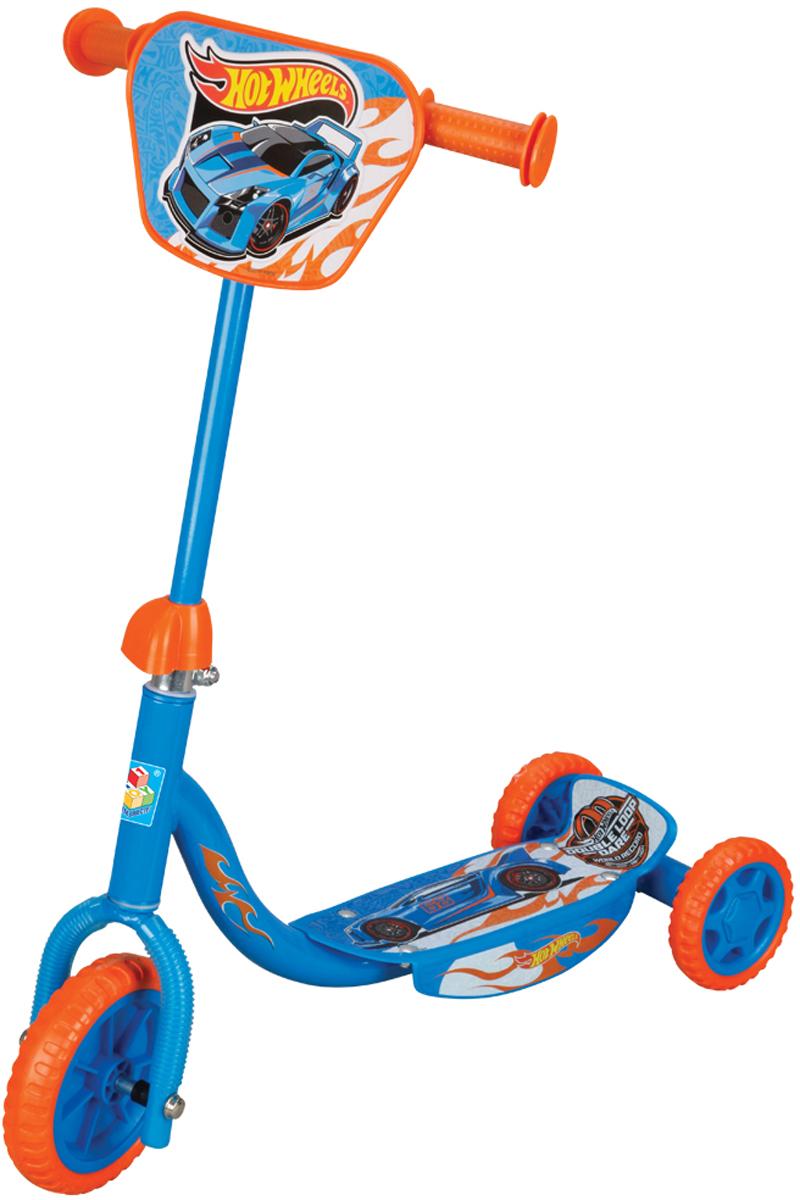 1TOY Самокат детский трехколесный Hot Wheels с декоративной панелью самокат hot wheels