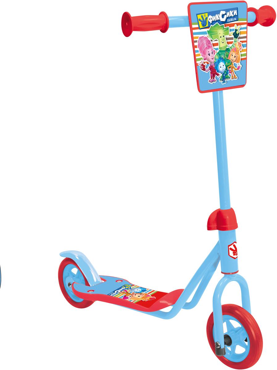1TOY Самокат двухколесный Фиксики цвет красный голубой двухколесный самокат тачки