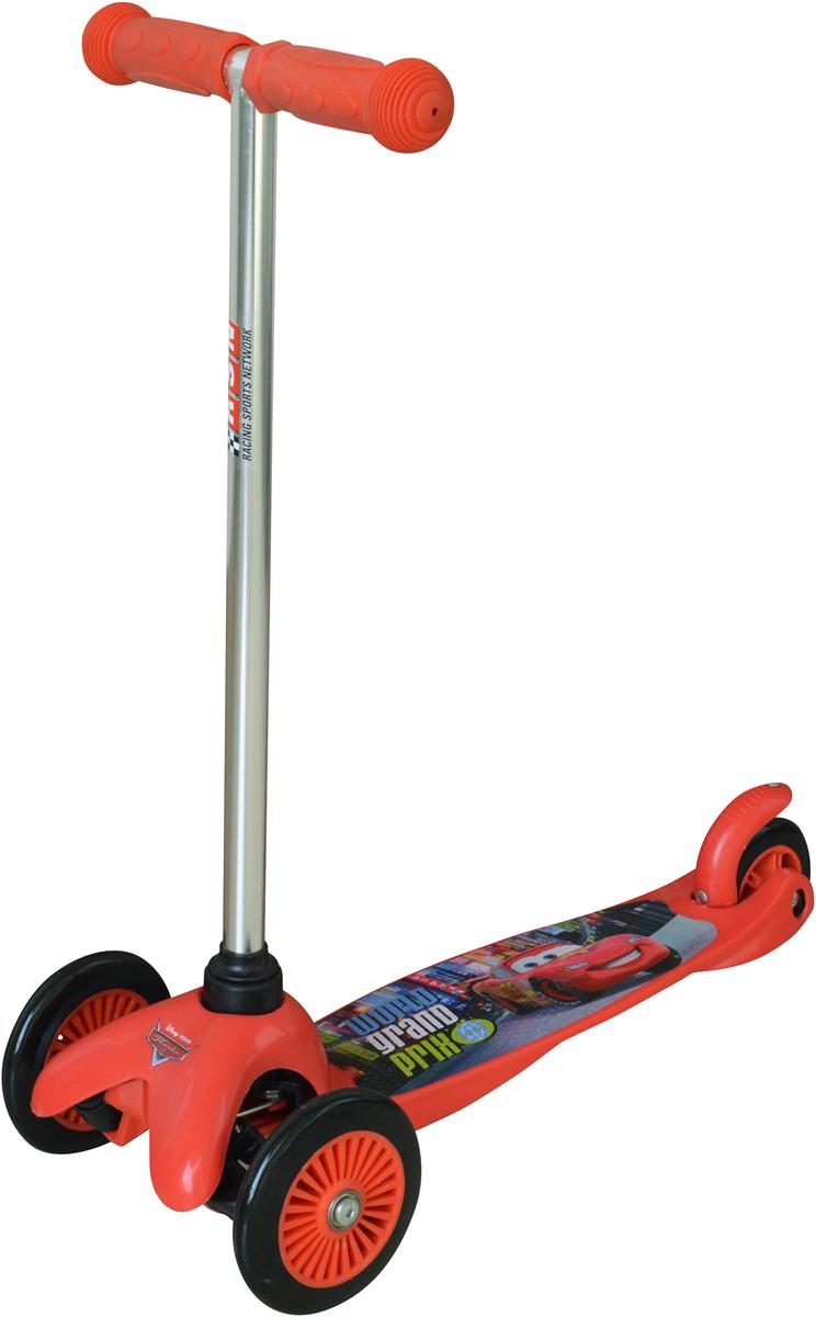 Самокат детский 1 Toy Тачки, 3-колесный, цвет: красный. Т58415 самокат 1 toy navigator 2 колесный т59559