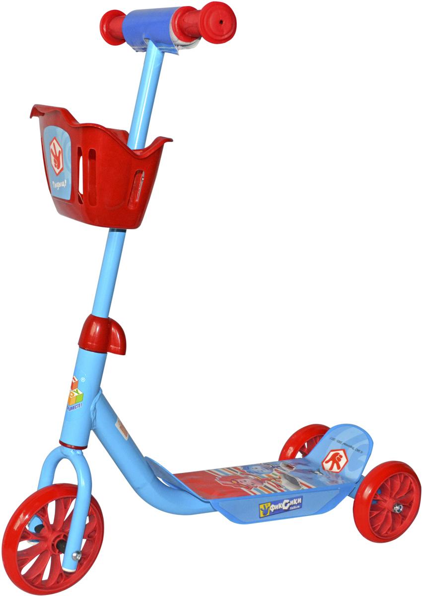 Самокат 1 Toy Фиксики, 3-колесный. Т59571 самокат 1toy фиксики т59571 6 5 красно голубой