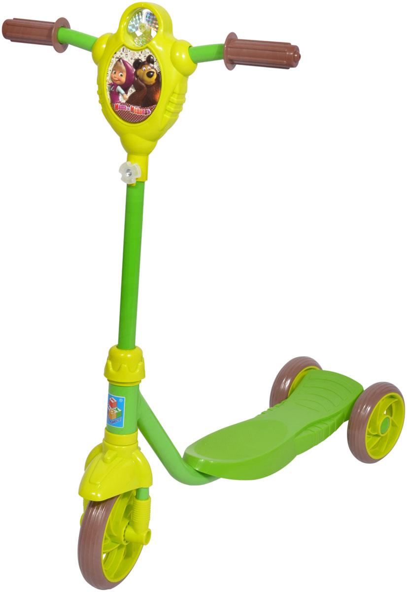 Самокат 1 Toy Маша и Медведь, 3-колесный. Т59575 велосипеды трехколесные 1toy велосипед трехколесный 1тoy маша и медведь