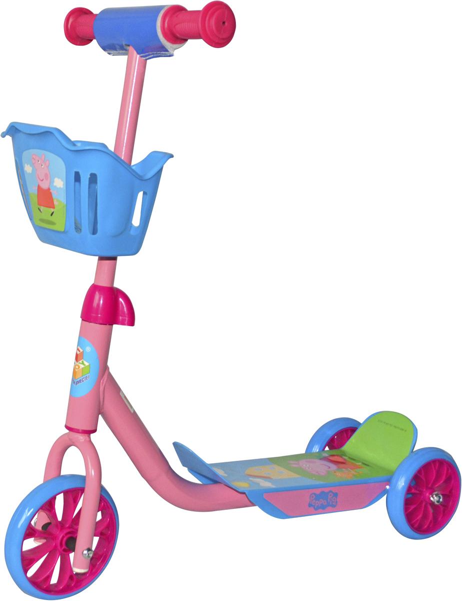 Фото - Самокат 1 Toy Peppa, 3-колесный. Т59976 самокат 3 х колесный 1toy peppa pig корзинка т59976