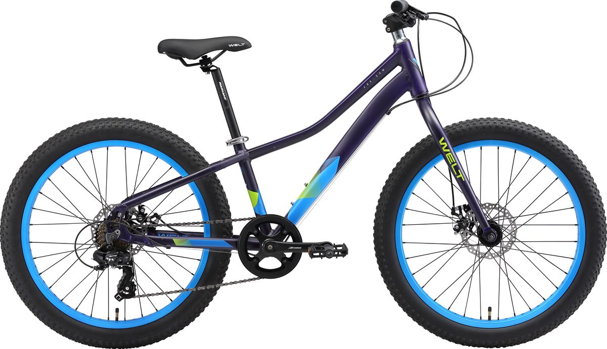 Велосипед детский Welt 2018 FAT Freedom matt, цвет: фиолетовый, синий, колесо 24