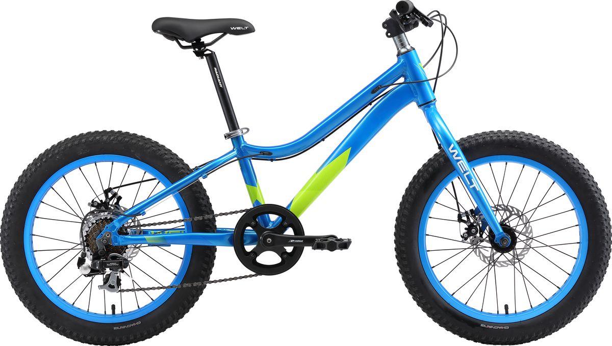 """Велосипед детский Welt """"2018 FAT Freedom"""", цвет: синий, зеленый, колесо 20"""""""