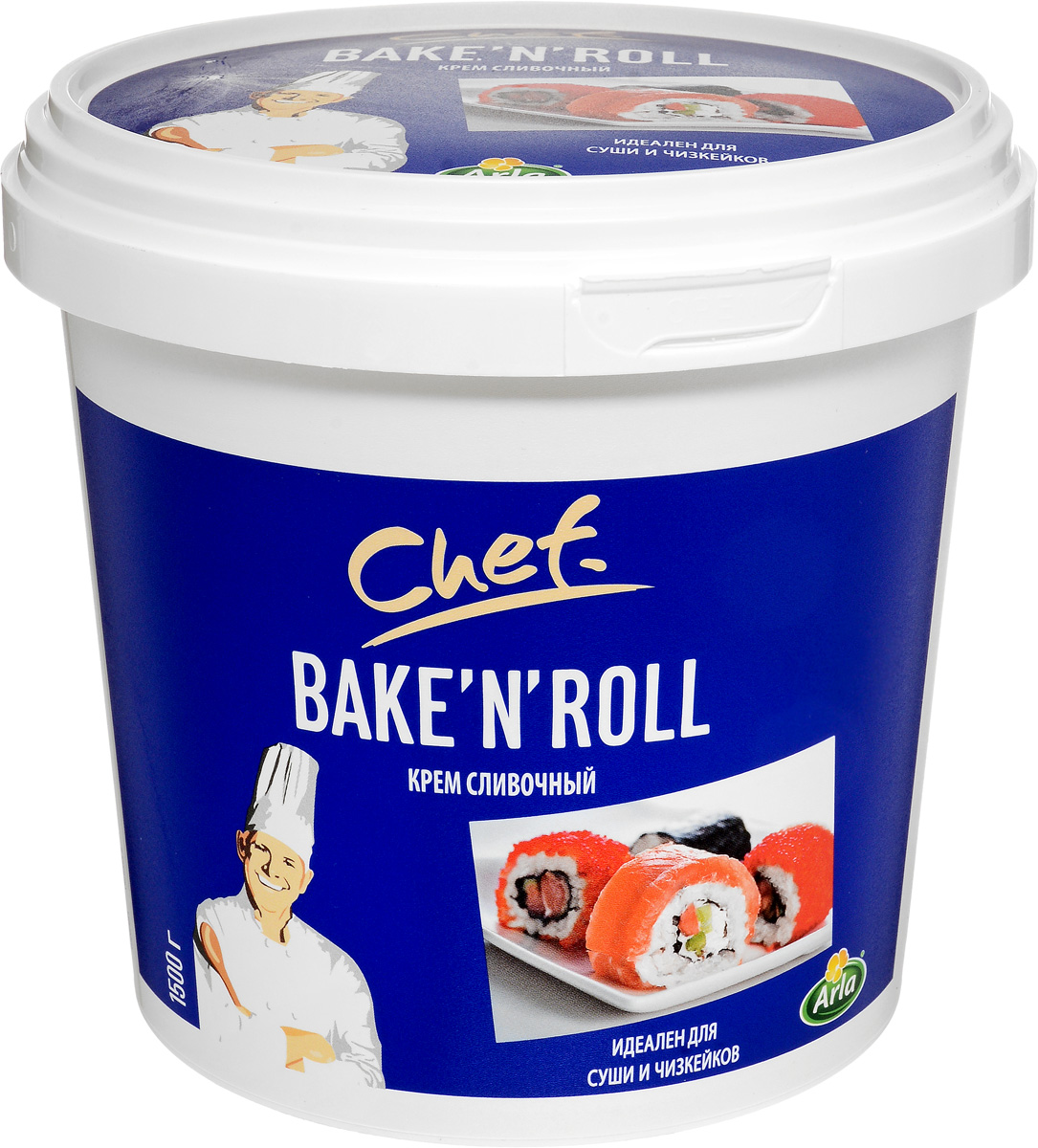 Arla Chef Bake'n'Roll Крем Сливочный, 64%, 1500 г dr oetker крем тирамису 64 г