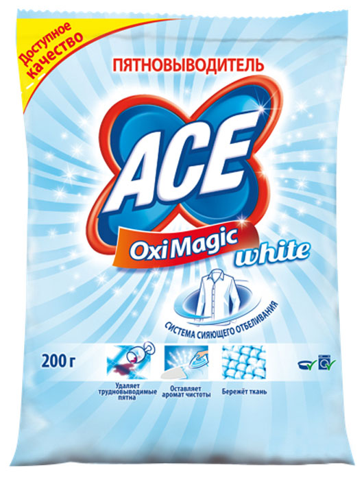 Пятновыводитель Ace Oxi Magic, 200 г пятновыводитель ace oxi magic 200 г