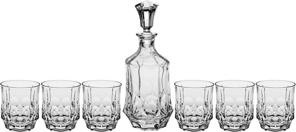 Набор для виски Crystal Bohemia Soho, 7 предметов
