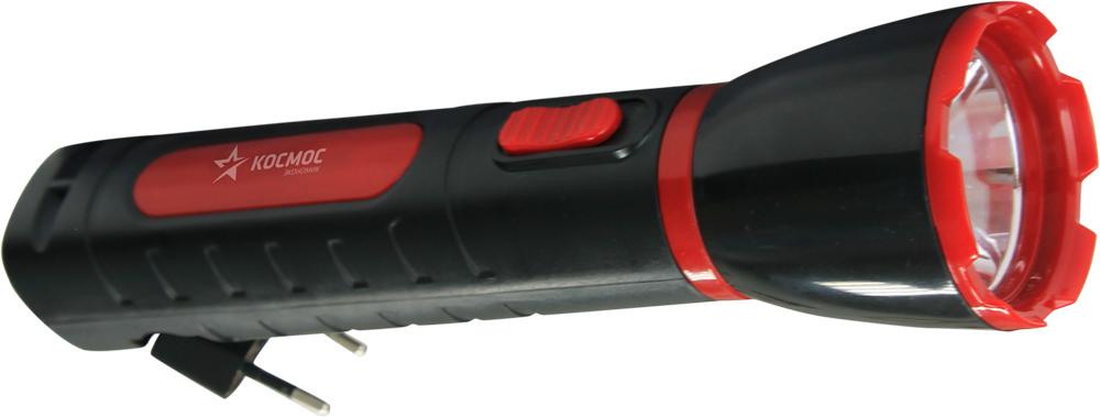 Фонарь ручной Космос KOCAcc103LED, аккумуляторный, цвет: черный, красный