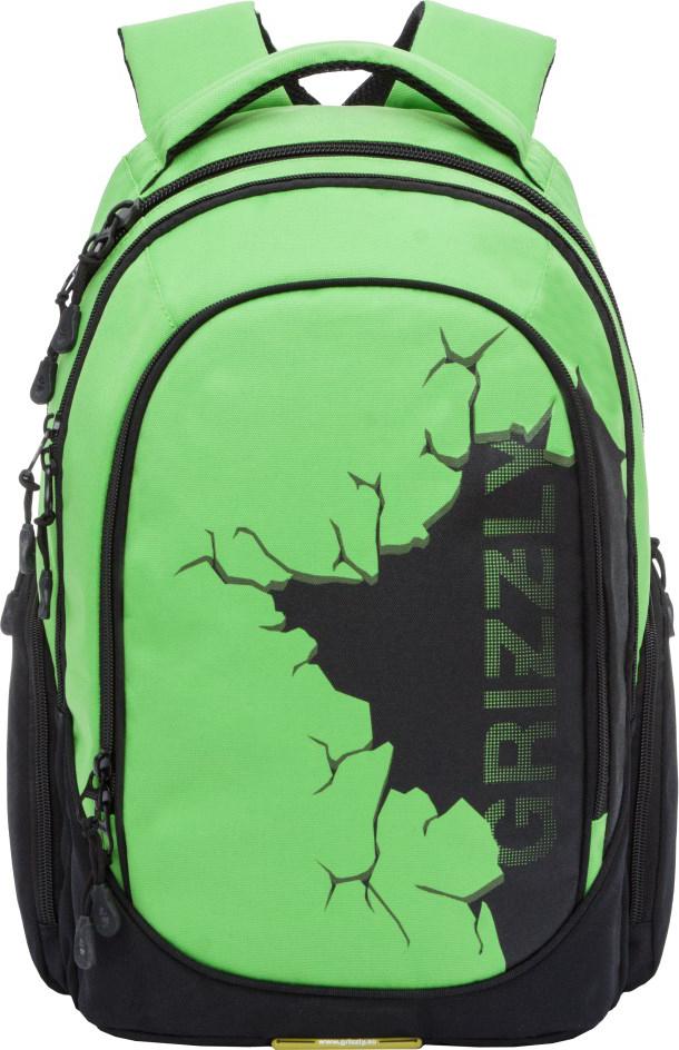 Рюкзак городской Grizzly, цвет: салатовый. RU-803-1/1 grizzly рюкзак черно салатовый