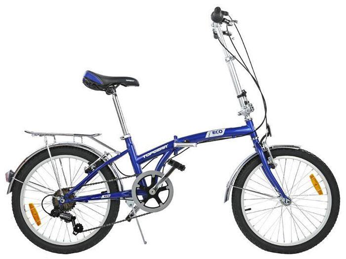 Велосипед детский TopGear Shimano, складной, цвет: синий. ВНС2086 top gear велосипед складной 20 eco 6 скоростей синий внс2086