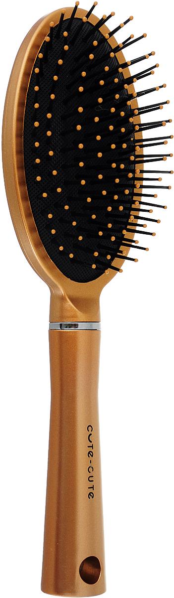 Cute-Cute Расческа массажная овальная, цвет: золотистый, длина 235 мм