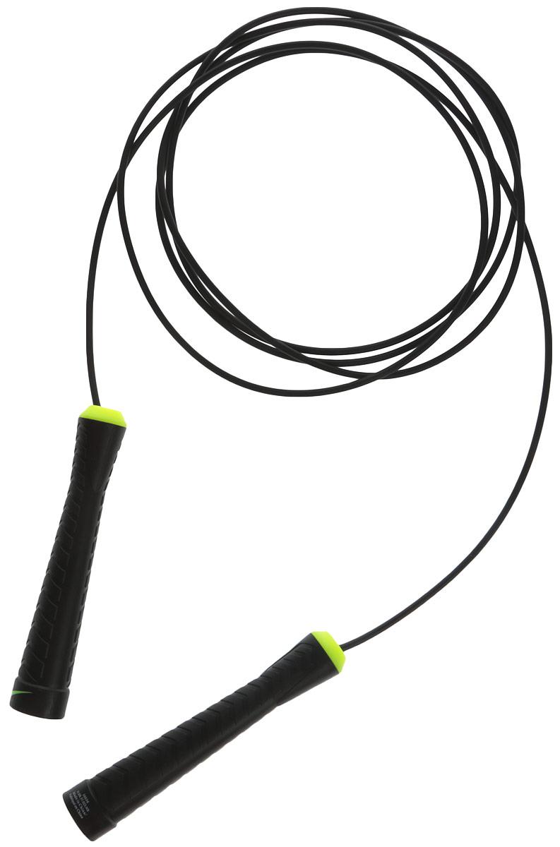 Скакалка Nike Basic Speed Rope Ns, цвет: черный, желтый эспандер nike long length medium resistance n er 17 756 ns