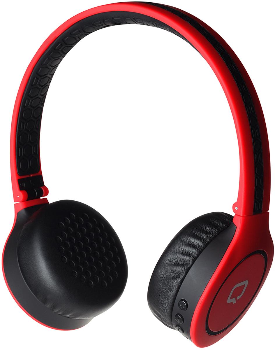 лучшая цена Беспроводные наушники Qumo Accord 3 PRO BT-0021, черный, красный