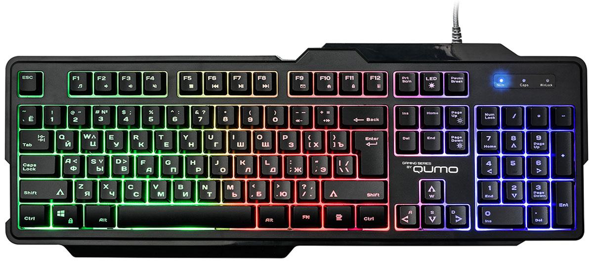 Клавиатура Qumo Сobra K30, Black игровой коврик qumo grand fleet [22485]