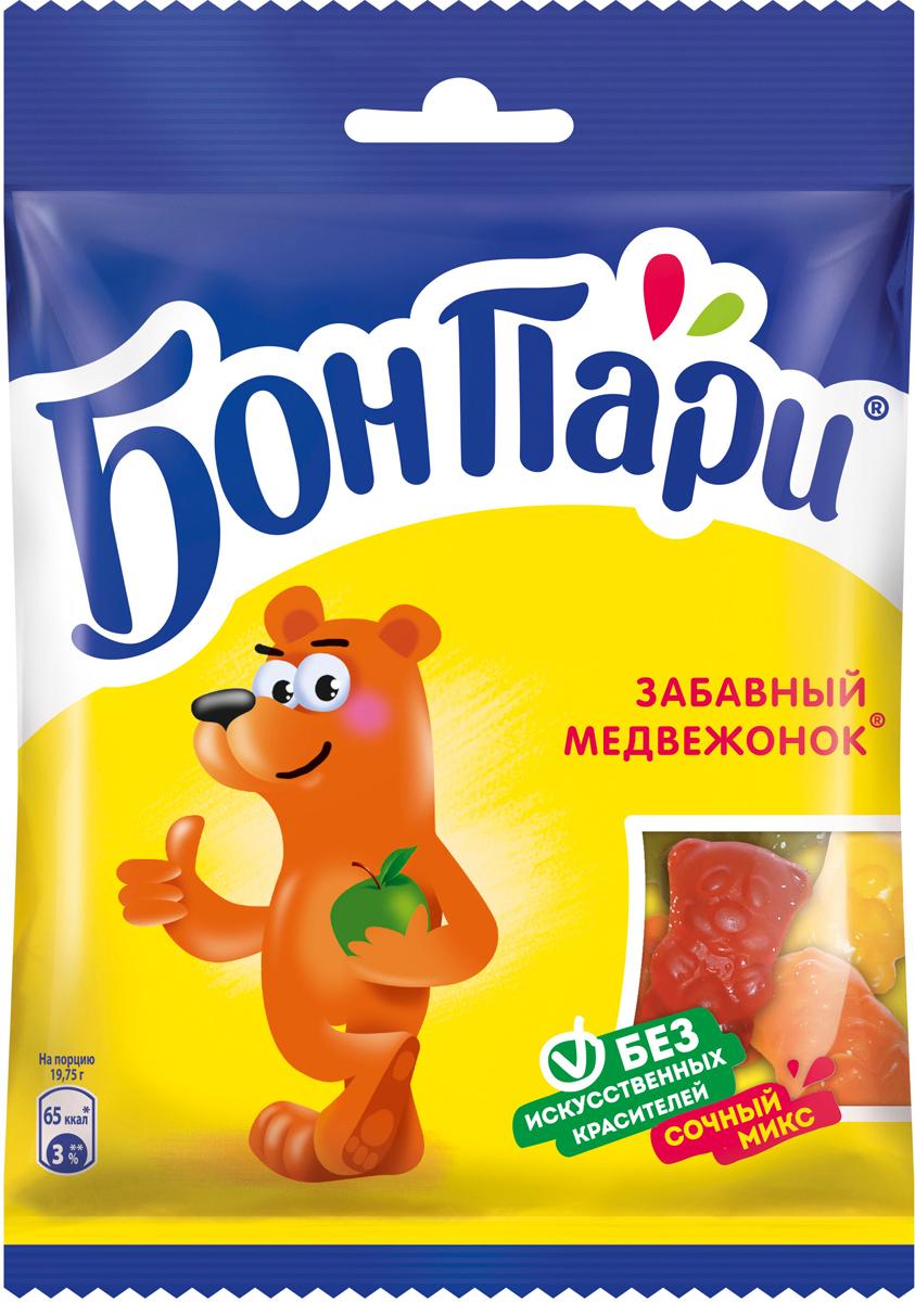 Бон Пари Забавный медвежонок мармелад жевательный фигурный, 75 г жевательный мармелад фигурный бон пари кислые змейки со вкусом фруктов 120 г