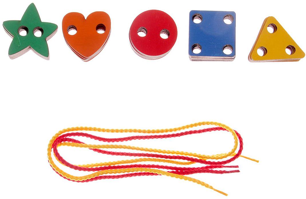Smile Decor Игра-шнуровка Геометрические фигуры головоломка smile decor рамки вкладыши геометрические фигуры микс 1355515