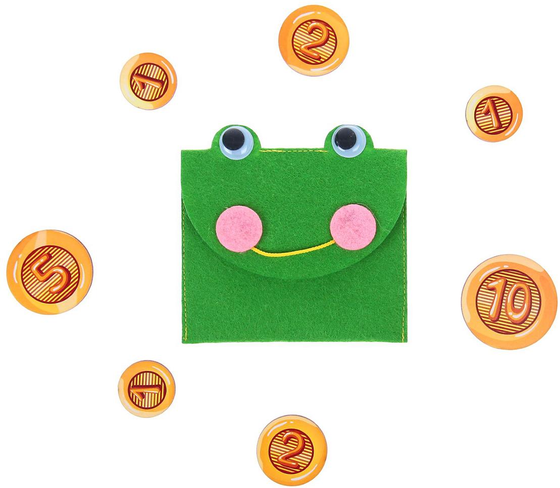 Smile Decor Обучающая игра Кошелек с монетами с монетами Лягушка все цены