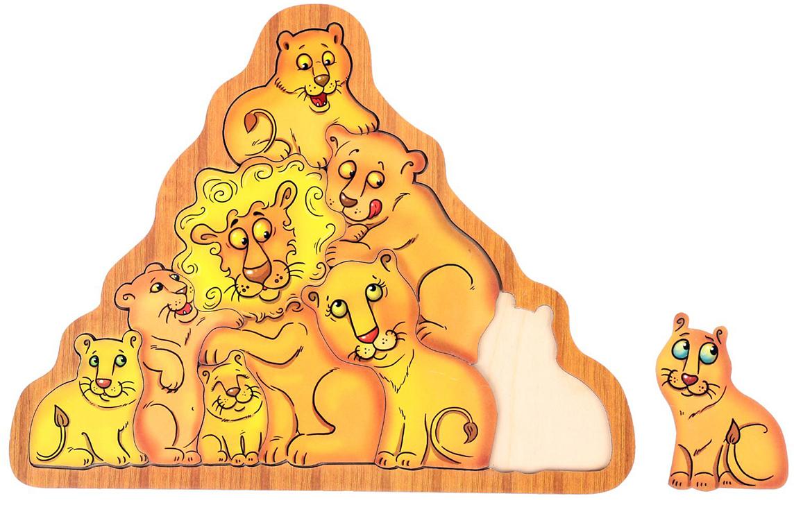 Smile Decor Обучающая игра Головоломка Львы головоломка smile decor рамки вкладыши геометрические фигуры микс 1355515