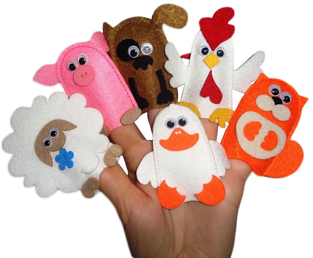 Smile Decor Пальчиковый театр Домашние любимцы игрушки для ванны peppa pig пальчиковый театр
