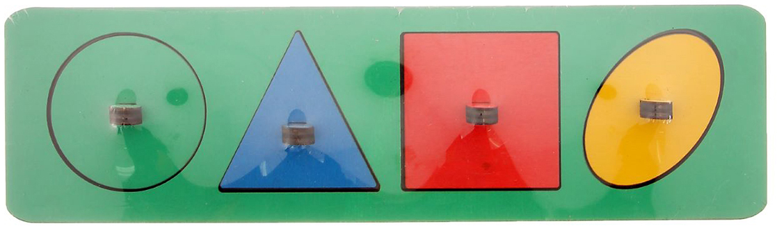 цены Smile Decor Обучающая игра Рамки-вкладыши Геометрические фигуры цвет в ассортименте
