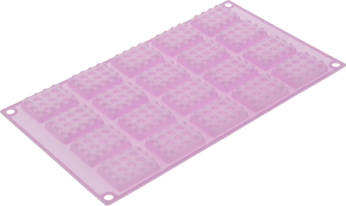 Форма для выпечки Marmiton Прямоугольное печенье, силиконовая, цвет в ассортименте, 20 ячеек