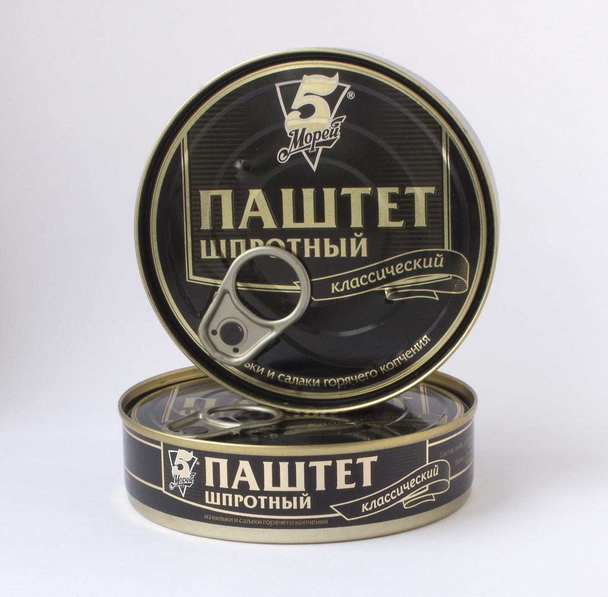 5 Морей Паштет шпротный, 160 г