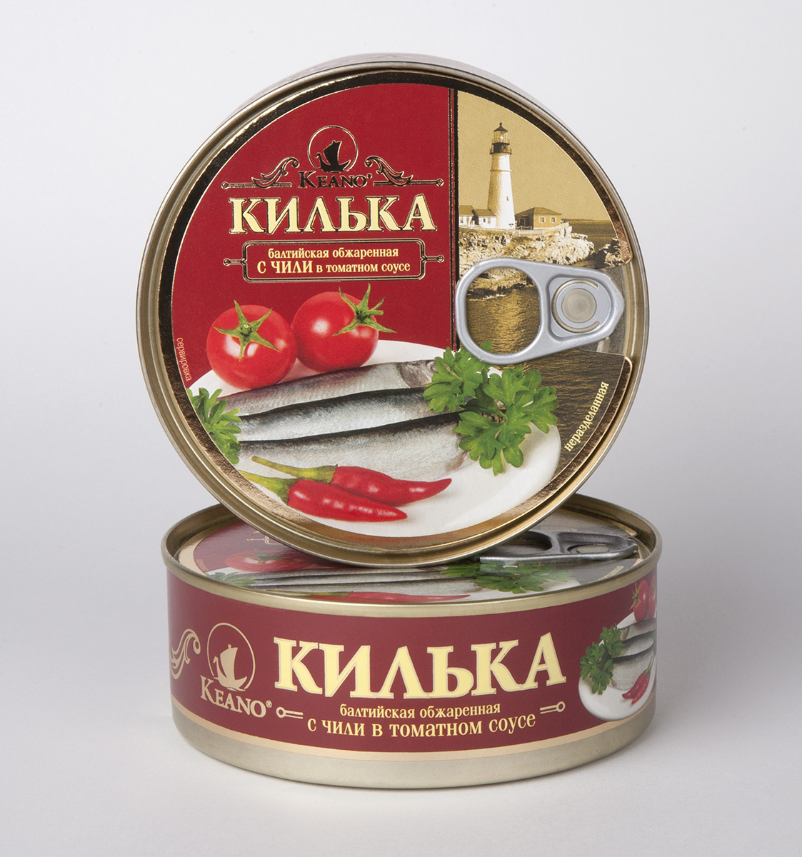 KeanoКилька в томате с чили 240 г