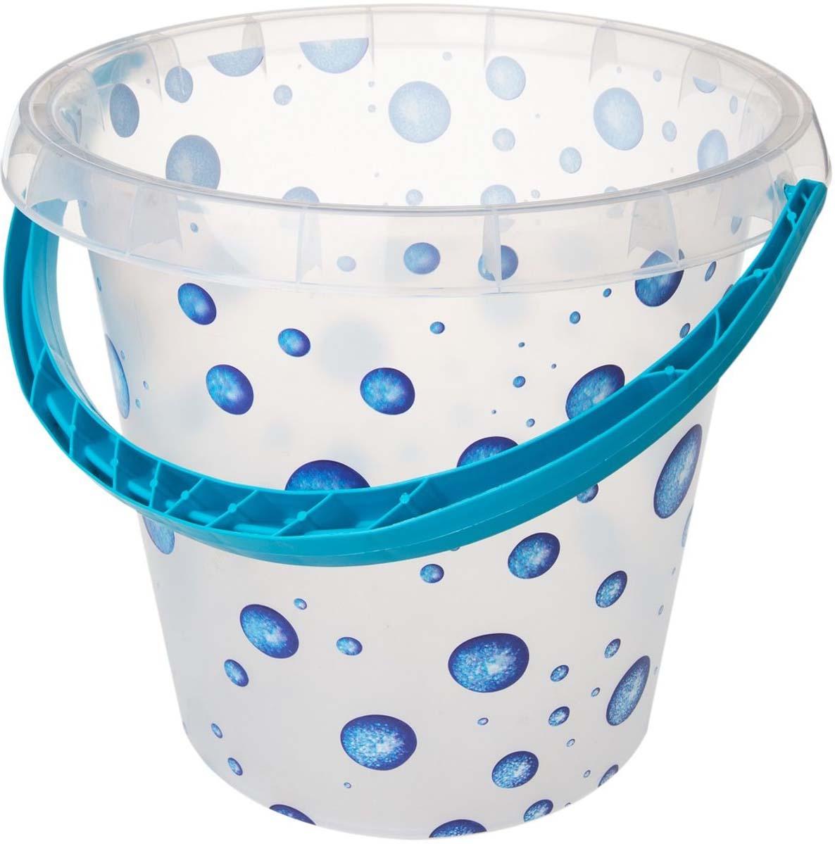 Ведро Plast Team Ampari, цвет: капли, 10 л ведро plast team прямоугольное цвет бирюзовый 16 л