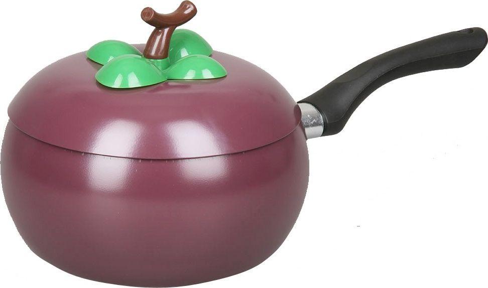 Ковш Pomi d'Oro Vegetto, с крышкой, цвет: фиолетовый, диаметр 18 см ковш pomi d'oro levita pss 615003 с крышкой цвет серебристый диаметр 16 см 77 858 25990
