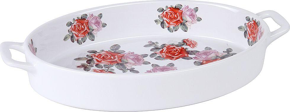 Форма для запекания Pomi d'Oro, овальная, с глазурированным покрытием, цвет: белый, 2,5 л форма для запекания pomi d'oro pgl 580024 овальная 35 x 25 x 6 5 см