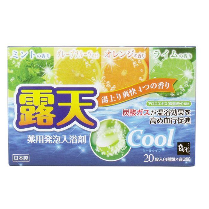 """Fuso Kagaku """"Cool"""" Соль для ванны на основе углекислого газа с охлаждающим эффектом и ароматом мяты, грейпфрута, апельсина и лайма, 1/20"""